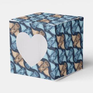 Dark hand-drawn abstract Owl pattern Wedding Favor Box