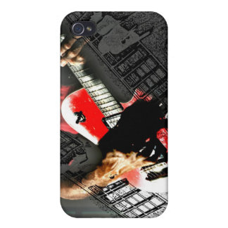 Dark hands guitar layered red image case for iPhone 4
