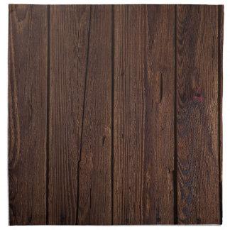 Dark hardwood imitation napkin