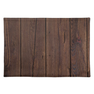 Dark hardwood imitation placemat