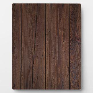 Dark hardwood imitation plaque