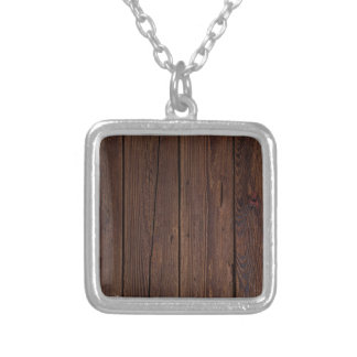 Dark hardwood imitation silver plated necklace