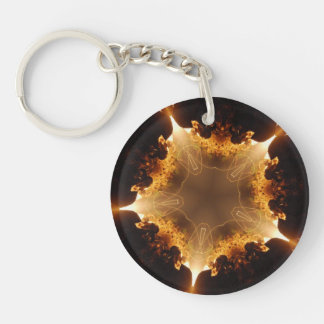 Dark Heart Single-Sided Round Acrylic Keychain