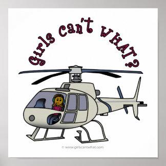 Dark Helicopter Pilot Poster