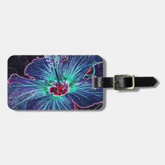 Dark Hibiscus Luggage Tag