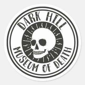 Dark Hill Museum of Death Skull Sticker