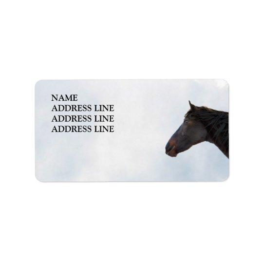 Dark Horse and Sky - Western Return Address Label