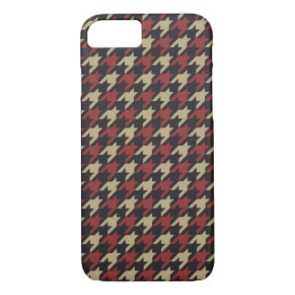 Dark houndstooth chic theme iPhone 7 case