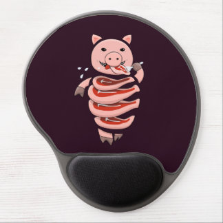 Dark Hungry Self Eating Cut In Steaks Pig Gel Mouse Pad