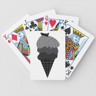 Dark Ice Cream Bicycle Playing Cards