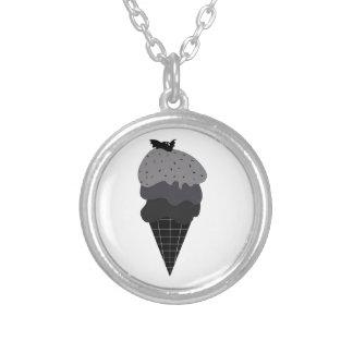 Dark Ice Cream Silver Plated Necklace
