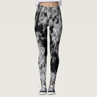 Dark Ice Crystals Art Leggings