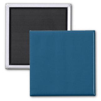 Dark Imperial Blue Cool Color Design Square Magnet