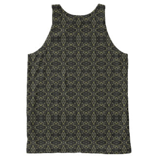 Dark Interalce Tribal All-Over-Print Tank Top