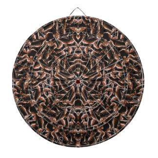 Dark Intricate Modern Tribal Dartboard