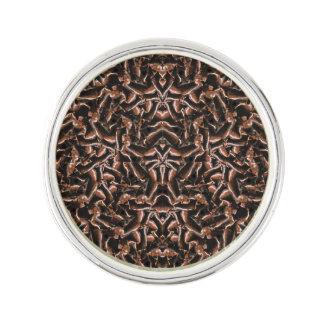 Dark Intricate Modern Tribal Lapel Pin