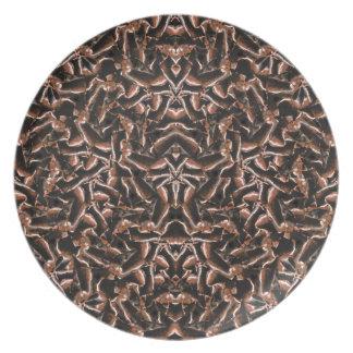 Dark Intricate Modern Tribal Plate