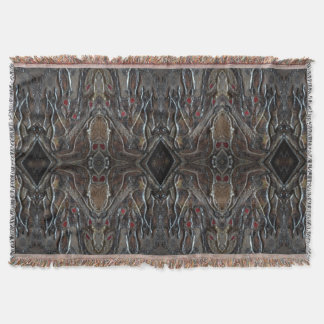 Dark Jewel of The Sun Stain Glass by Deprise Throw Blanket