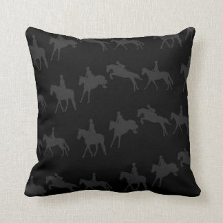 Dark Jumping Horse Sequence Throw Pillow