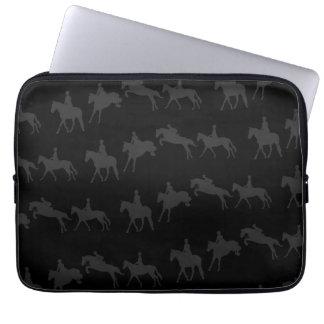 Dark Jumping Horses Laptop Sleeve