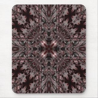 Dark kaleidoscope design mouse pad