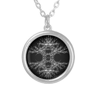 dark kind 1 silver plated necklace