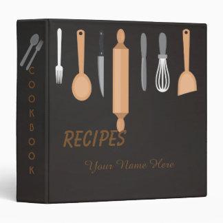 Dark Kitchen utensils recipe binder book