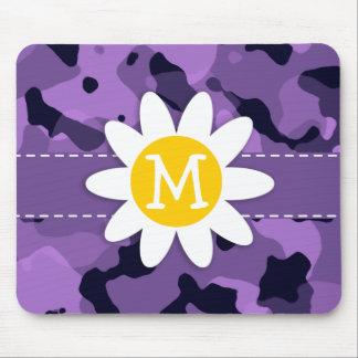 Dark Lavender Camo; Daisy Mouse Pad