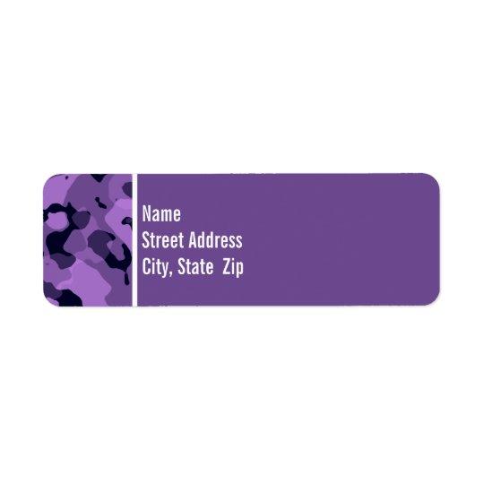 Dark Lavender Camo; Personalized