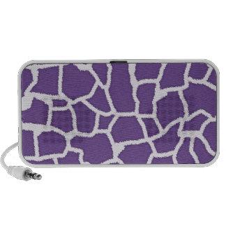 Dark Lavender Giraffe Animal Print iPhone Speaker
