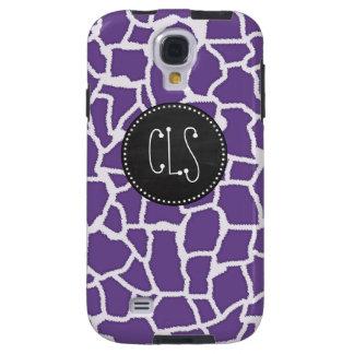 Dark Lavender Giraffe Print; Retro Chalkboard Galaxy S4 Case