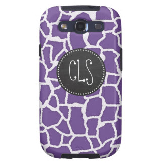 Dark Lavender Giraffe Print; Retro Chalkboard Samsung Galaxy SIII Covers