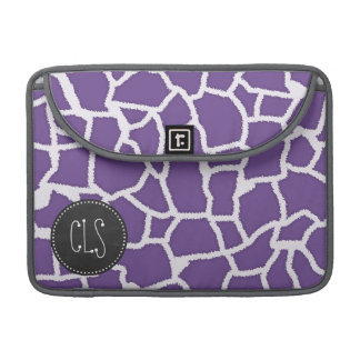 Dark Lavender Giraffe Print; Retro Chalkboard MacBook Pro Sleeves