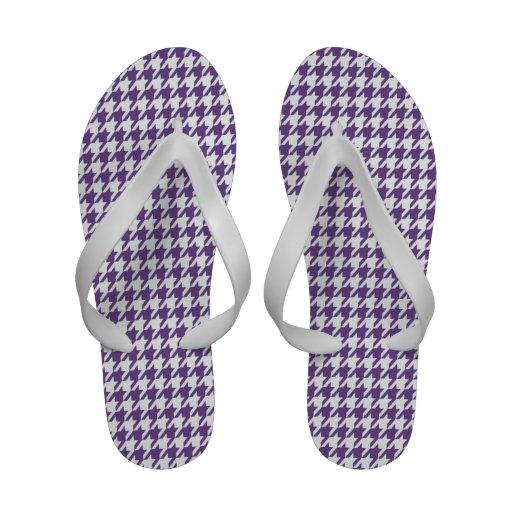 Dark Lavender, Purple Houndstooth Sandals