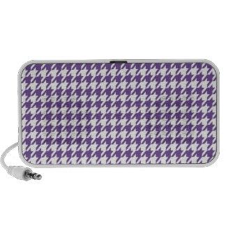 Dark Lavender, Purple Houndstooth Laptop Speakers