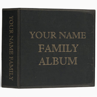 Dark Leather Print Family Album 3 Ring Binders