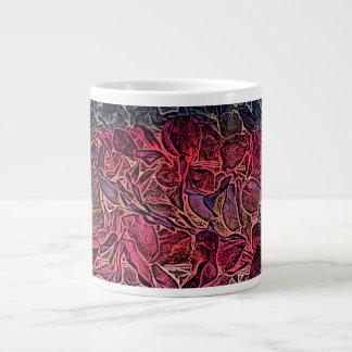 dark lei pink abstract sketch neat background jumbo mug