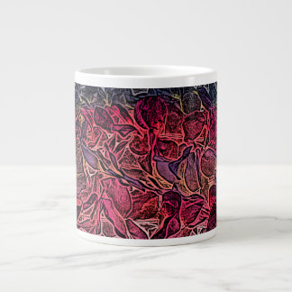 dark lei pink abstract sketch neat background extra large mug