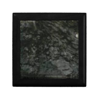 dark lichen on rocks gift box