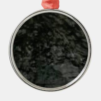 dark lichen on rocks metal ornament