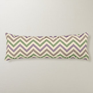 Dark Lilac Stripy Chevron Body Pillow