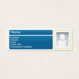 Dark LinkedIn - Skinny Mini Business Card
