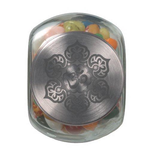 Dark Lotus Flower Om Jelly Belly Candy Jars
