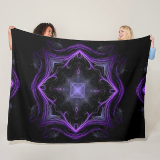 Dark Lotus Shaman Mandala Plush Fleece Blanket