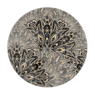 Dark mandala pattern. cutting board