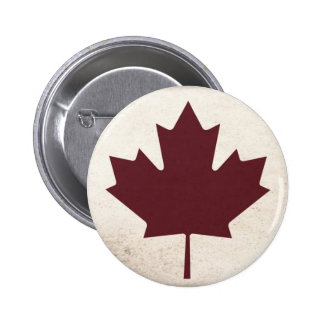 Dark Maple Leaf 2 Inch Round Button