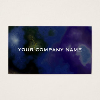 Dark Marbled Nebula Business Card