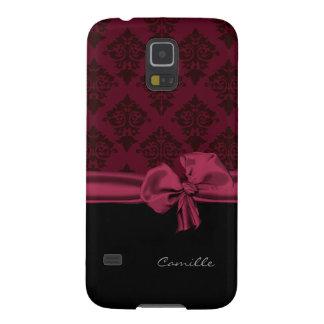 Dark Maroon Damask Custom Samsung Galaxy S5 Case