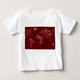 Dark maroon earth map baby T-Shirt