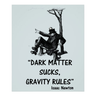Dark Matter Gravity And Isaac Newton Funny Poster